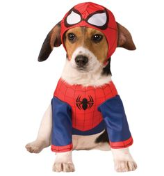 Marvel Comics Spider-Man Pet Costume Get your pups Spidey senses tingling in this SUPER cute Spider-Man Marvel Comics fancy dress outfit! http://www.MightGet.com/february-2017-3/marvel-comics-spider-man-pet-costume.asp