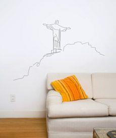 cristo redentor. adesivo de parede cristo redentor. Criado por Ney Megale.
