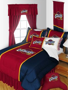 NBA Basketball Cleveland Cavaliers Comforter AND Matching Sheet Set ALL SIZES #Modern