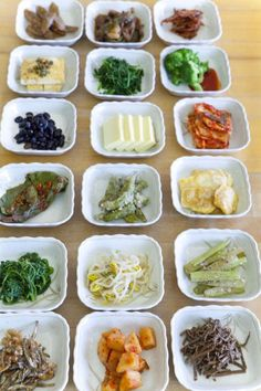 banchan (korean side dishes) One of my favorite things about Korean food is the side dishes