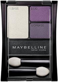 Maybelline New York Expert Wear Eyeshadow Quads, 06Q Amethyst Smokes, 0.17 Ounce (2 Pack). Get (2) New in factory packaging #06Q Amethyst Smokes EyeShadow by Maybelline. Extraordinary eye shadow color. All day wear. Ophthalmologist tested.