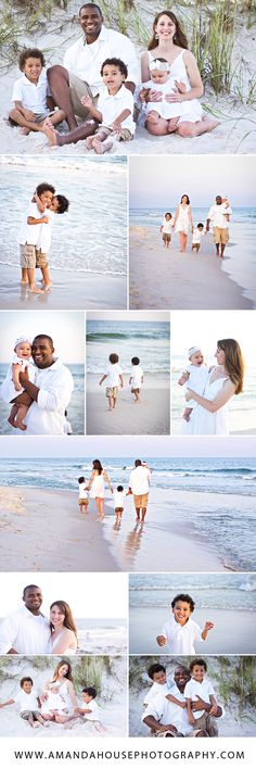 Family Beach Session Ideas | Amanda House Photography