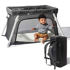 Lotus Travel Crib - Backpack Portable, Lightweight, Easy to Pack Play-Yard with Comfortable Mattress - Certified Baby SafeDescriptionWORRY-FREE AIRPORT TRAVEL - Designed to be easy to fly with the compact, light backpack carrying case. Baby Bjorn, Best Pack And Play, Portable Baby Bed, Best Baby Cribs, Baby Beds, Comfort Mattress, Play Yard, Baby Safe, Humor