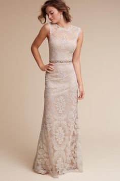Ivory/champagne April Gown | BHLDN