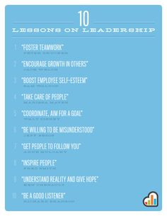10 Lessons on Leadership (poster)