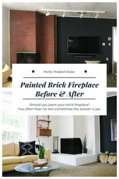 Painted Brick Fireplace Before And After: Should You Paint Your Fireplace?