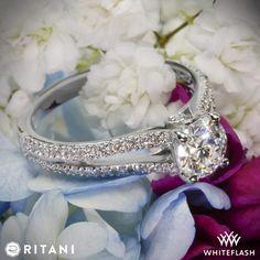 Ritani Double French-Set Diamond 'V' Engagement Ring.
