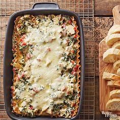 Are you ready for a lasagna revolution? We loaded this lasagna recipe with roasted red sweet peppers, Alfredo sauce, and lemon-pepper seasoning to create a brand-new blend of flavors. Chicken helps make this easy lasagna a low-fat option. $2.14 per serving