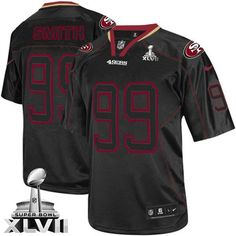 07586c90f50 Men s Aldon Smith Elite Lights Out Black Nike Jersey  NFL San Francisco  49ers  99