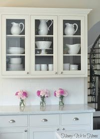 Honey We're Home: Painted Kitchen Cabinets