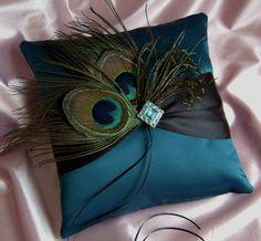 Peacock ring bearer pillow ~Etsy