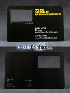 Check out videography business card by creativenauts on creative these videographers have an excellent business card complete with aspectratios on a clear card reheart Gallery
