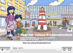 Digitaal prentenboek voor kinderen - Julian is ziek. Hij gaat naar het ziekenhuis om geopereerd te worden. Lees je mee wat Julian allemaal meemaakt?