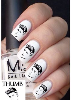 OMB Justin Bieber nail stickers that's so Awesome!