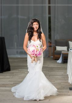 """Bisou Bride, Klara!  Married August 2nd 2015, wearing """"Sonnet"""" by Monique Lhuillier!  **Featured on Real Weddings!**"""