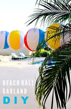 Beach Ball Garland D