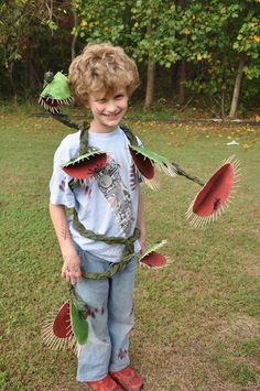 Ethan as a carnivorous plant for halloween