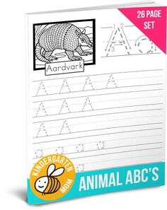 Free eBook!!  Animal ABC Handwriting pages includes 26 pages with an animal for each letter of the alphabet.