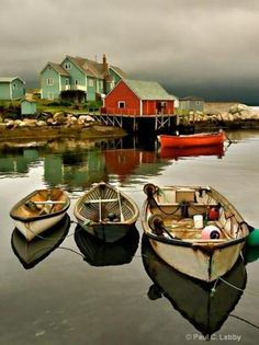 Peggy's Cove, Nova Scotia, Canada ~ A small rural community located on the eastern shore of St. Margarets Bay in Nova Scotia's Halifax Regional Municipality, which is famous for the Peggy's Point Lighthouse.