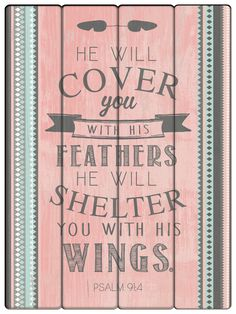 He will cover you wall plaque