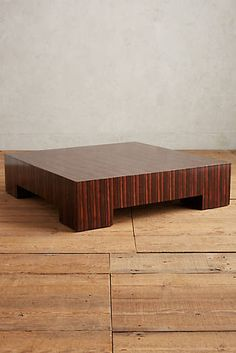 Ribboned Wood Coffee Table