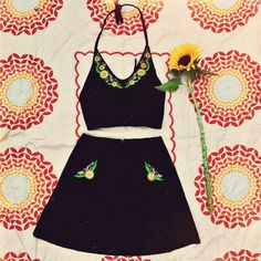 ninelivesbazaar:  ✨ Our beautiful Sunflower Fields set has been reduced! The top and skirt are now $125 each but we only have a couple left and have sold out of some sizes. We won't be restocking this same style. It's a total dreamy summertime outfit ~ www.ninelivesbazaar.com.au