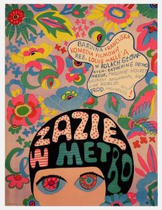 Polish poster for Louis Malle's Zazie dans le métro.