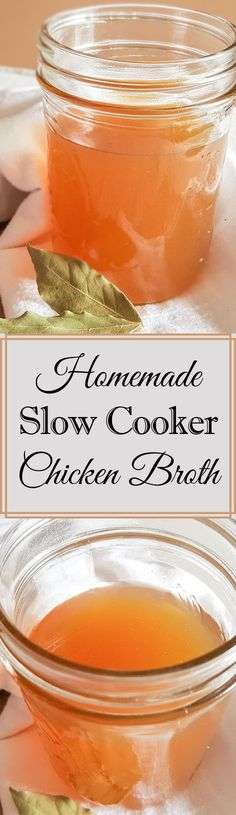 Homemade Slow Cooker Chicken Broth is flavorful, easy, and convenient! This recipe gives you a head-start on amazing homemade soup recipes and weeknight meals of all sorts. Slow Cooker Recipes, Crockpot Recipes, Soup Recipes, Yummy Recipes, Slow Cooker Chicken Broth, Easy Hard Boiled Eggs, Soup Broth, Weeknight Meals, Healthy Dinners