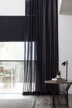 7 Artistic Clever Tips: Sheer Blinds Decor kitchen blinds navy.Bedroom Blinds And Curtains bedroom blinds home decor. Black Sheer Curtains, Bedroom Curtains With Blinds, Black Blinds, Sheer Blinds, Living Room Blinds, House Blinds, Fabric Blinds, Sheer Curtain Panels, Velvet Curtains