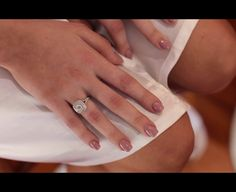 Jess Conte's wedding nails Such a cute colour
