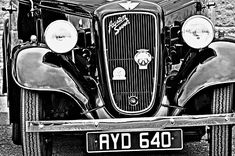 A vintage Austin 7 in black and white Pyrography, Fine Art America, Wall Art, Shop, Vintage, Vintage Comics, Woodburning, Store, Wall Decor