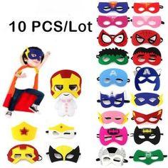 10 Pcs Superhero Masks For Kids Costume Collection, Mask For Kids, Masks, Costumes, Superhero, Dress Up Clothes, Fancy Dress, Men's Costumes, Suits
