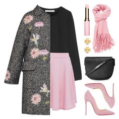 """Pink & Black"" by lgb321 ❤ liked on Polyvore featuring мода, Topshop, Diane Von Furstenberg, Blumarine, Christian Louboutin, Clarins, Tory Burch, women's clothing, women и female"