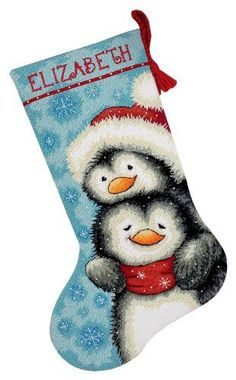 Cross Stitch Christmas Stockings $ Love this one for one of the girls.