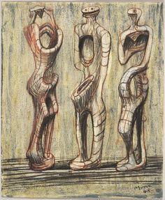 Henry Moore – Three Standing Figures, 1953