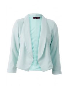 so easy to throw overjeans and a white tee for a casual chic look! Cropped Blazer, White Tees, Casual Chic, Plus Size Outfits, Spring Fashion, Spring Summer, Mint, Couture, House Styles