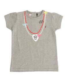 Take a look at this Gray Necklace Top - Infant, Toddler & Girls by Lourdes on #zulily today!