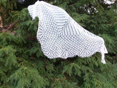 Knitted white lace shawl Shawl Lambs wool Shawl for by LenaKom