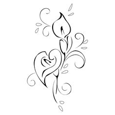 calla lily tattoo stencil | tattoo so that if you turn the s… | Flickr