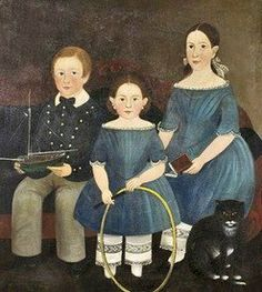 """The Brown Family Children,"" Sturtevant Hamblin (1817-1884) Portland,Maine"