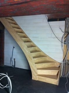 Stairs Design Ideas Loft Stairways Ideas The Effective Pictures We Offer You About Stairs storage A quality picture can tell you many things. You can find the most beautiful pictures that can be p Round Stairs, Open Stairs, Loft Stairs, Floating Stairs, Deck Stairs, Building Stairs, Building A House, Building Ideas, Escalier Art