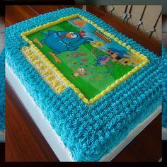 Este foi o tema que a mamãe do Christian escolheu para sua festa de 1  aninho. Cobertura em Glacê e decoração em papel de arroz. 388b681fd86a0