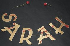 Perfect for Mother's Day. Beautiful lettered garland on wire by CobridgeCreative Garland, Arrow Necklace, Creativity, Wire, Lettering, Handmade, Stuff To Buy, Etsy, Vintage