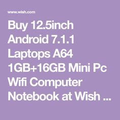 Buy Android Laptops Mini Pc Wifi Computer Notebook at Wish - Shopping Made Fun Wish Shopping, Laptops, Wifi, Computers, Android, Notebook, Stuff To Buy, Laptop, The Notebook