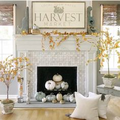 Fall mantle styling guide by the dotted bow how to decorate the perfect fall farmhouse mantlescape Fall Home Decor, Autumn Home, Diy Home Decor, Fall Fireplace Decor, Fireplace Ideas, Fireplace Design, Harvest Decorations, Thanksgiving Decorations, Thanksgiving Mantle