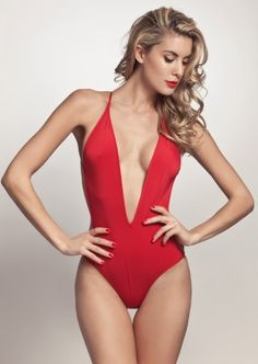 Thapelo Paris Suzie Monokini Lipstick | Sexy Red Swimsuit | Bathing Suit | Trikini | One Piece 7