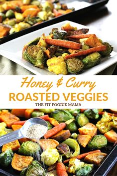 Foodie Friday: Honey & Curry Roasted Harvest Veggies - The Fit Foodie Mama