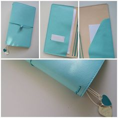 "Custom ""Tiffany"" inspired regular size traveler's notebook with matching…"