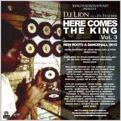 """Dj Lion nos trae como regalo del nuevo año esta nueva mixtape de la serie """"Here comes the King"""" con más de 3 horas de selección ( una neo roots y otra dancehall )con una buena carga de dubplates y los mejores riddims y bigtunes del pasado 2015. Ha sido seleccionado y mezclado por él …"""