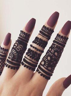 Gorgeous Simple Fingers Henna Designs for 2019 - Mehndi designs - Henna Designs Hand Henna Hand Designs, Eid Mehndi Designs, Modern Mehndi Designs, Mehndi Designs For Beginners, Mehndi Design Pictures, Mehndi Designs For Fingers, Beautiful Mehndi Design, Latest Mehndi Designs, Simple Henna Designs